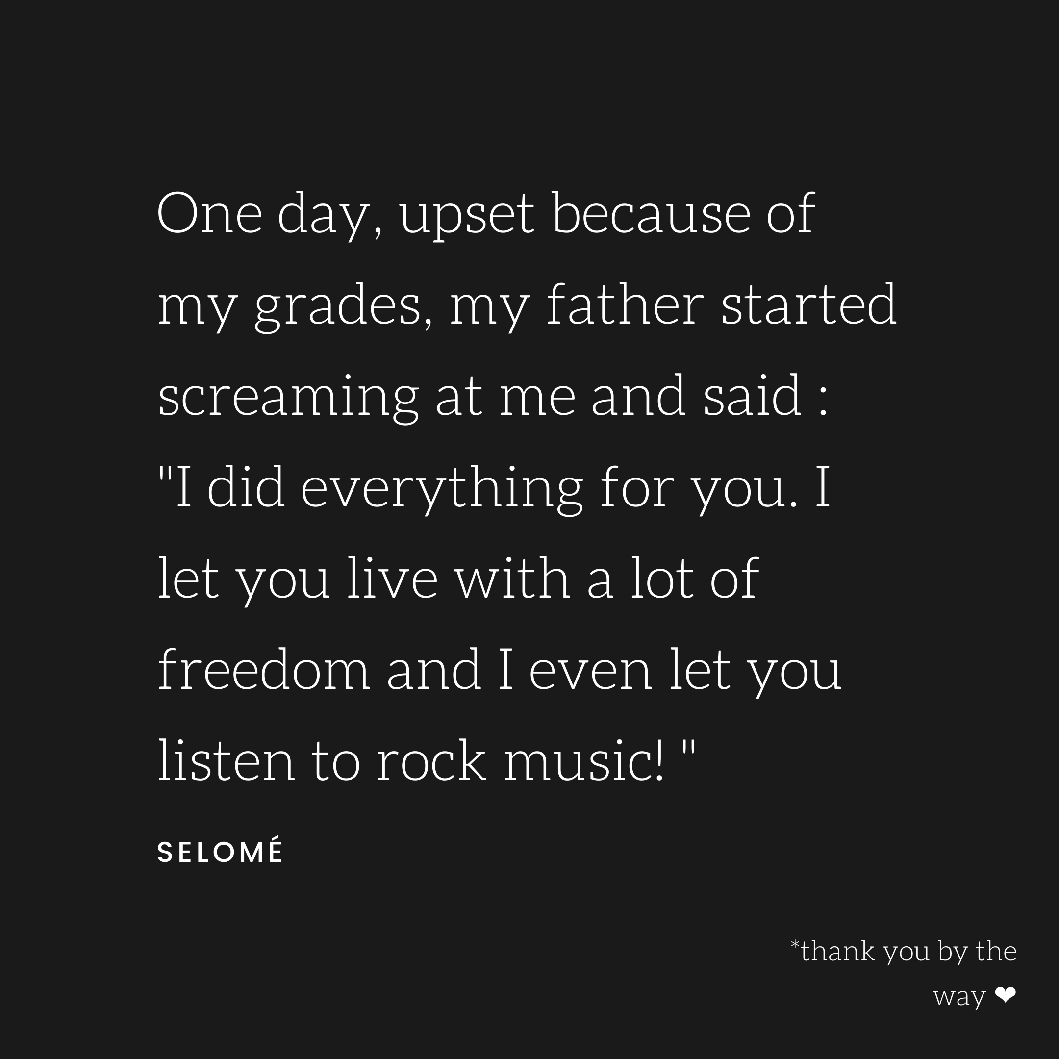 Story of a girl and rock music.